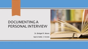 MLA 8th ed. Personal Interview Citation Video