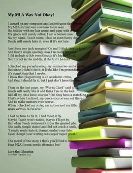 MLA Poem for Writing and Research