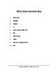 MLA Quiz & Answer Sheet