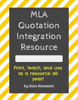 MLA Quotation Integration Resource