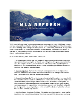 MLA Refresh Course