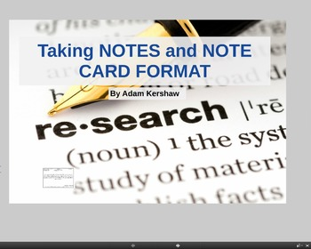 MLA Research Paper--Fitting Research to a Thesis and Writi