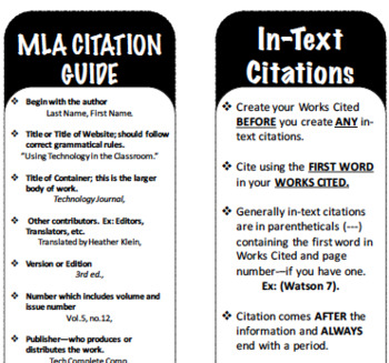 MLA Resources: Bookmarks and Source Map