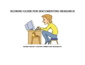 MLA Scoring Guide:  Formatting