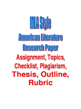 MLA Style American Literature Research Paper