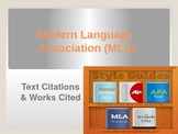 MLA Style In-Text Citations & Works Cited-An Overview