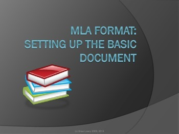 setting up a basic document in mla format presentation only by