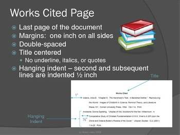 Setting Up A Basic Document in MLA Format (Presentation Only)