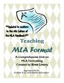 Teaching MLA Format: A Comprehensive Teaching Bundle of MLA Resources