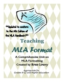 Teaching MLA Format: A Comprehensive Teaching Bundle of MLA Resources