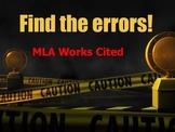 MLA Works Cited - Find the errors! Activity/Quiz