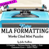 MLA Works Cited Mini Puzzles, Free Activity for Stations, Centers, Groups