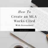 MLA Works Cited Microsoft Word- with Screenshots!