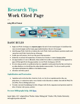 MLA Works Cited Page Tip Guide