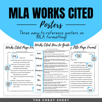 Example Of Thesis Statement For Essay Mla Works Cited Poster Th Edition Thesis Statement Argumentative Essay also Research Proposal Essay Topics Mla Works Cited Poster Th Edition By The Cheat Sheet  Tpt High School Essay Samples