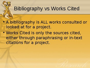 MLA Works Cited Powerpoint