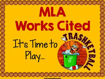 MLA Works Cited Trashketball Review Game