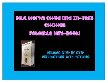 MLA Works Cited and In Text Citation MINI-BOOK