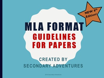 MLA Worksheet- 8th Edition