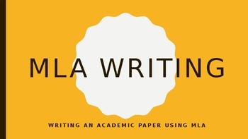 MLA Writing Presentation