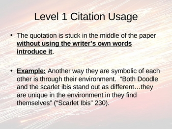 MLA Writing and Integrating Quotations PowerPoint