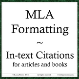 MLA format - In-text Citations Power Point