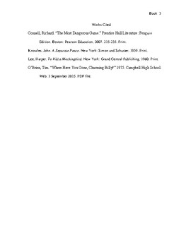 MLA formatted paper sample: an instructional model