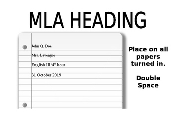 Mla papers for sale