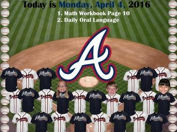MLB Atlanta Braves Baseball Morning Attendance Flipchart