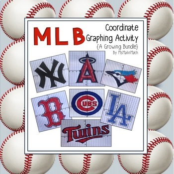 MLB Coordinate Graphing Activity - All teams included!