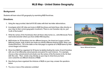 MLB Map - United States Geography