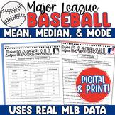 MLB Measures of Central Tendency: Baseball Mean, Median Mode for Google Digital