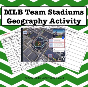 MLB Team Stadium Geography Activity Using Google Earth