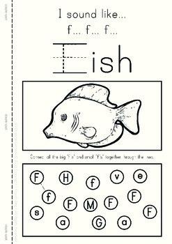 MLD - Basic Alphabet Worksheets - Level 1 - A4 Sized