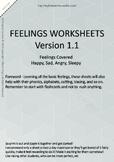 MLD - Basic Feeling Worksheets - Part 1 - A4 Sized