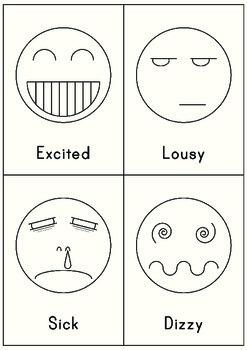 MLD - Basic Feeling Worksheets - Part 2 - A4 Sized