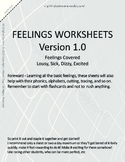 MLD - Basic Feeling Worksheets - Part 2 - Letter Sized
