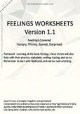 MLD - Basic Feeling Worksheets - Part 3 - A4 Sized