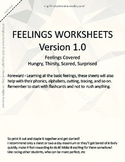 MLD - Basic Feeling Worksheets - Part 3 - Letter Sized