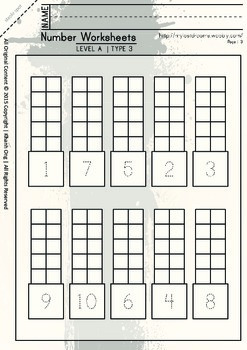 MLD - Basic Numbers Worksheets – Set 1 – A4 Sized