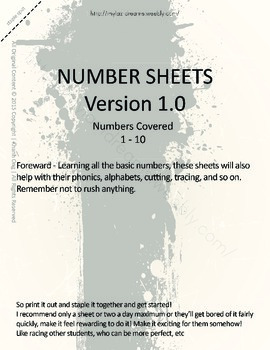 MLD - Basic Numbers Worksheets – Set 1 – Letter Sized