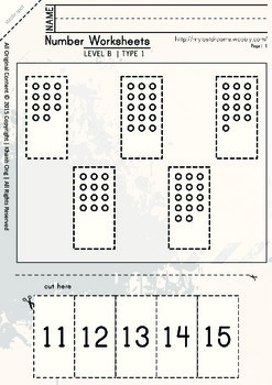 MLD - Basic Numbers Worksheets – Set 2 – A4 Sized