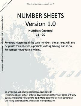 MLD - Basic Numbers Worksheets – Set 2 – Letter Sized