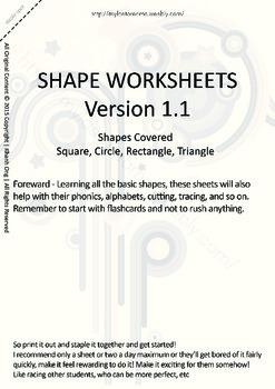 MLD - Basic Shapes Worksheets - Part 1 – A4 Sized