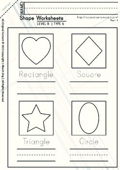 MLD - Basic Shapes Worksheets - Part 2 – A4 Sized