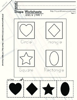 MLD - Basic Shapes Worksheets - Part 2 – Letter Sized