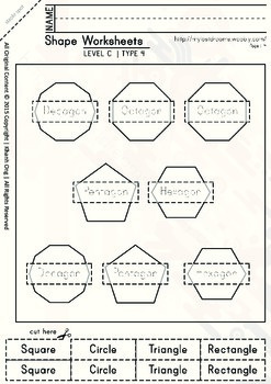 MLD - Basic Shapes Worksheets - Part 3 – A4 Sized