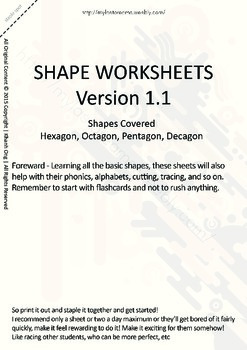 MLD - Basic Shapes Worksheets - Part 3 – A4 Sized