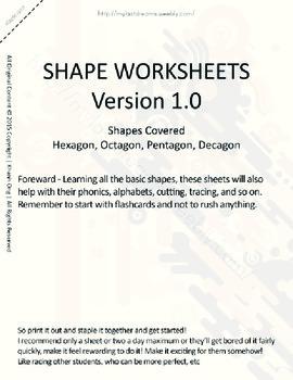 MLD - Basic Shapes Worksheets - Part 3 – Letter Sized