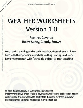 MLD - Basic Weather Worksheets - Part 1 – Letter Sized